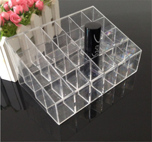 Trapezoid Acrylic 24 lattice Lipstick Storage rack Cosmetics transparent display stand Makeup tools Finishing box storage shelve