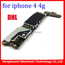 DHL/EMS free shipping 100% original unlocked 16GB mainboard for iphone 4 4g Motherboard good quality logic board IOS system