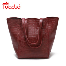Buy TuLaduo Brand Women Handbag New Crocodile Leather Retro Female Women Bag Large Capacity Shoulder Bags Designer Casual Tote Bag for $18.35 in AliExpress store