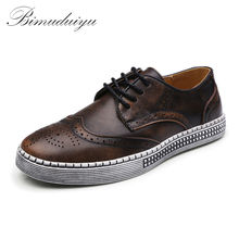 Buy BIMUDUIYU Spring Autumn New Trendy Shoes Genuine Leather Soft Casual Gentleman Brogue Style Men's Shoes 38-48 Large size for $37.83 in AliExpress store