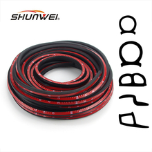 2Meter Z D P B Type 3M Adhesive Car Rubber Seal Sound Insulation Car Door Sealing Strip Weatherstrip Edge Trim Noise Insulation