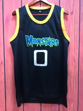 EJ Alien 0 Monstars Basketball Jersey Dark Blue all stitched