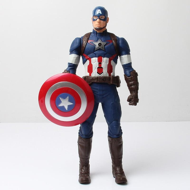29Cm Anime Super Hero The Avengers Captain America Thor Iron man Hulk Toys Model Car PVC Kids Doll Cartoon TY0004<br><br>Aliexpress