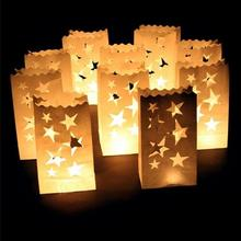 Wonderful! 60pcs/lot Paper Candle Bags Heart love candlelight dinner Decor light Holder Paper Lantern Party Decoration(China)