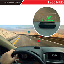 High Quality E260 Car HUD OBD II Interface Voice / Speed / Temperature / Battery Voltage / Clock / Fuel Consumption Geyiren(China)