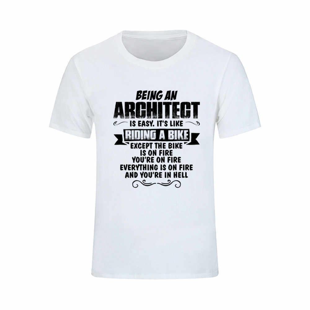Camiseta se un arquitecto hombres algodón Tops manga corta cuello adolescente  hombres camiseta diseño psg 6xl d239904876b01