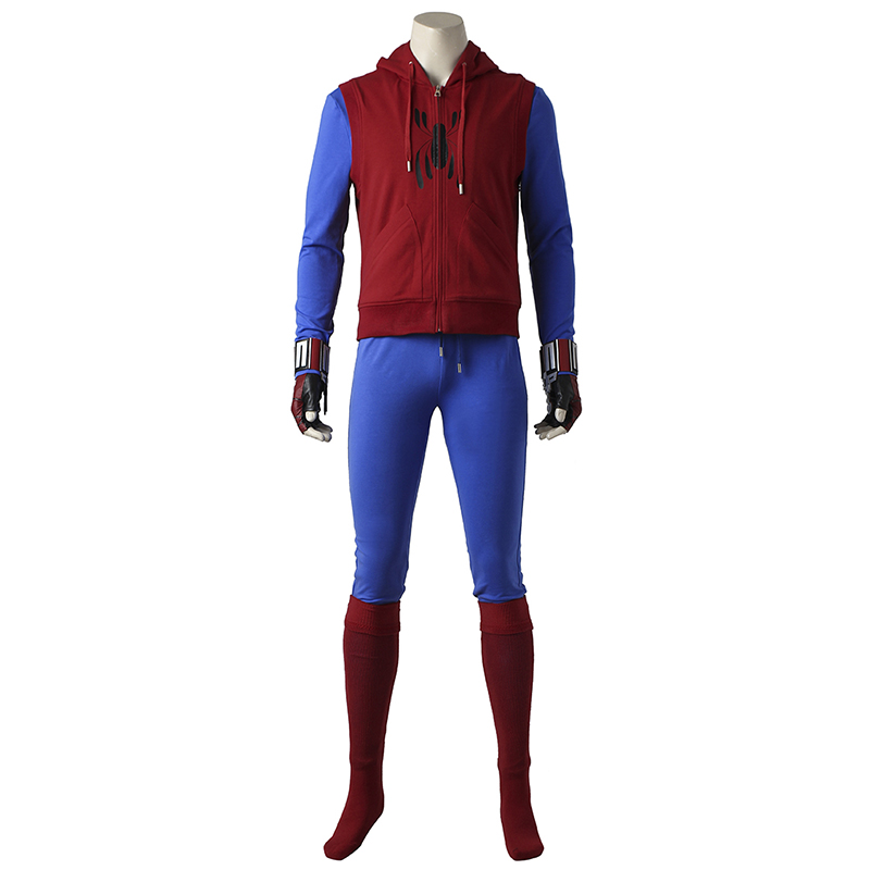 Spider-Man Homecoming Cosplay Costume Peter Benjamin Parker Spider-Man Cosplay Halloween SpiderMan Outfit Cosplay Custom Made