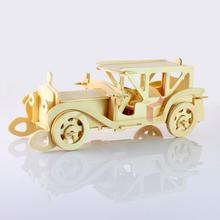 3d Wooden Puzzles Simulation Model Toy Car Model Development Baby's Intelligence Puzzle En Bois Enfant