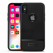 Luxury Brand Full Cover Carbon Fiber Case iPhone X Cover Soft Silicone Coque iPhone X Case Cover Luxury Leather Fundas