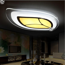 the new listing  Modern living room lamp bedroom den  slim shaped porch lamp LED remote dimming lights oval Ceiling Lights
