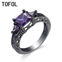 TOFOL Rings For Women Setting Wedding Rings Cute Simple Unique Jewelry Vintage Design Birthday Stone Gifts