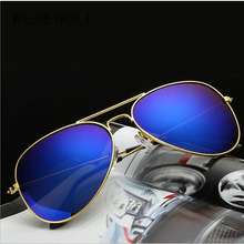 WEREWOLF Polarized Sunglasses Men Luxury Brand Designer pilot Sun Glases For Male Aviator Hot Oculos De Sol Rays Oval len Gozluk