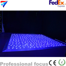 Fedex One Piece 60*60cm Led Star Dance Floor Light White Color Star Dancing Floor for wedding show party disco club light
