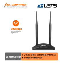 300Mbps High Power USB Wifi adapter COMFAST wireless network card soft AP wi fi router with 2*6dBi signal amplifier Antenna wifi(China)
