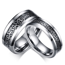 Genuine Unique 100% Pure Tungsten Steel Couples Ring High Polished Rings for Women Men Top Quality Party Wedding Jewelry(China)