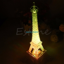 Romantic Eiffel Tower Light French Style Led Night Light Desk Bedroom Nightlight Children's Decoration Gift Rainbow Night Lamp