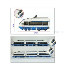 Model building kit compatible with Lepin transportation train rails 3D block Educational model building toy hobbies for children