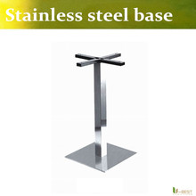 U-BEST  Stainless Steel Square Table Base (45cm) Brushed Stainless Steel Bar stool base,stainless steel table legs