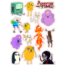 NEW 13pcs/lot American Drama Adventure Time Funny Anime Stickers For Car Laptop Bicycle Notebook Waterproof sunscreen DIY decals