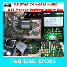 Top Quality mb star c4 sd connect 2017-09 Vediamo+DTS 8 mb star sd c4+Military Notebook CF19 mb star sd c4 work with car truck