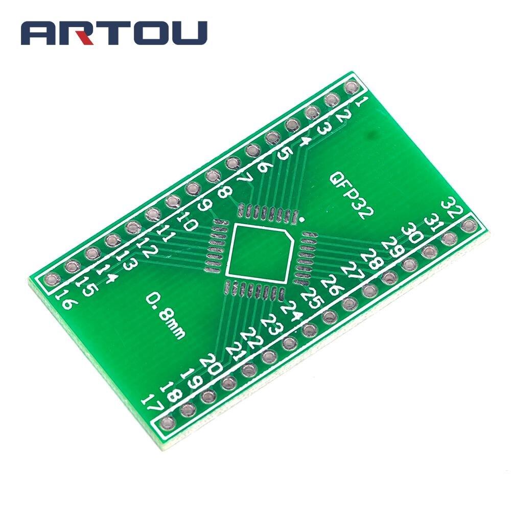 1PCS SMD to DIP QFP32 DIP pin Spacing of 0.8mm Adapter Board