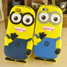 2017 Popular Luxury 3D Super Cute Lovely Despicable Me Cartoon Minion soft Rubber phone Case Cover for iPhone 4 5S 6 6S 6 Plus(China)