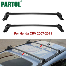 Partol Car Roof Rack Crossbars Cross bars Roof Luggage Carrier Roof Rail Bike Rack 132LBS/60KG for Honda CRV 2007 2008 2009-2011(China)