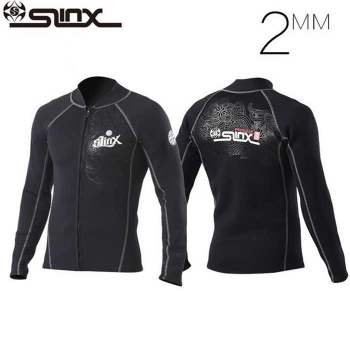 SLINX 2mm Neoprene Men Water sports Jackets Scuba Diving Suit Snorkeling Spearfishing Wetsuit Keep Warm Jacket Swimwear<br><br>Aliexpress