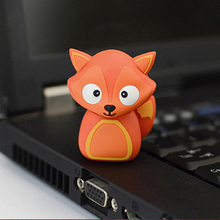 cartoon Fox Model  USB Flash 2.0 Memory Drive Stick Pen/Thumb/Car usb flash drives 4gb 8gb 16gb 32gb 64gb flash card pendrives