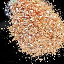 Mixed Size Glitter Gold Acrylic Clear Hexagon Sequins DIY Nail Polish Powder Dust Wholesale Manicure Tools N273(China)