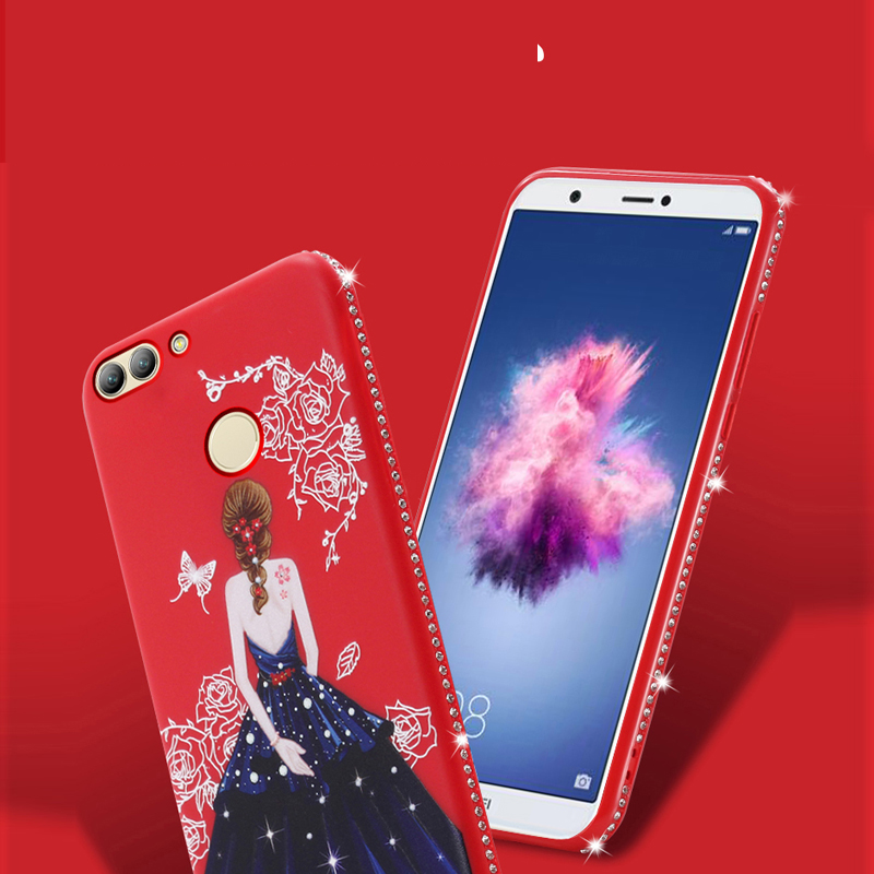 Dress girl silicone case huawei p smart (8)