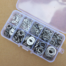 260pcs/set Stainless Steel Washer/Spring Washer Assortment Kit M2.5-M10 For Handware Tools Accessories(China)
