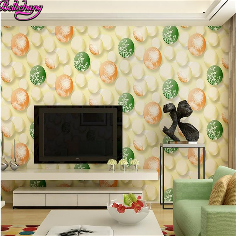 beibehang 3d wallpaper papel de parede High grade stereo non woven colored balloon fantasy background wallpaper wall paper <br>