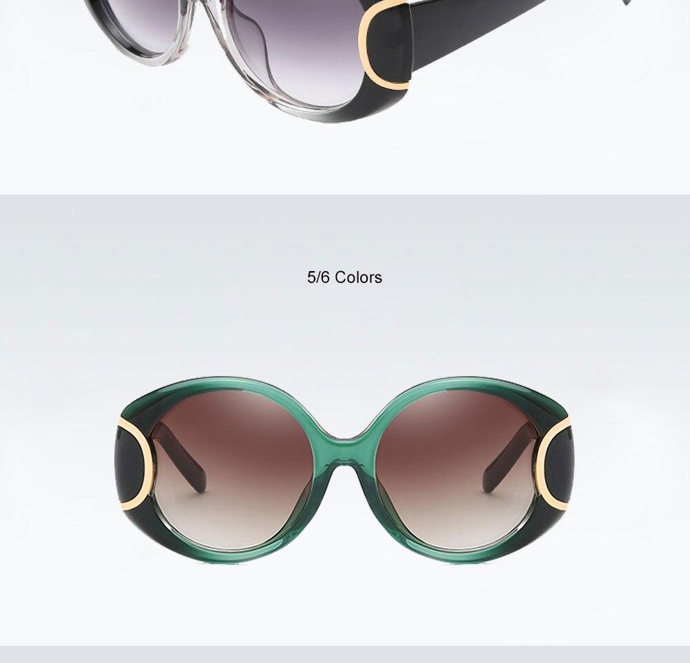 VEGA Eyewear Fashion Oval Sunglasses Women for Big Face Ladies Oversized Glasses with  ( (9)
