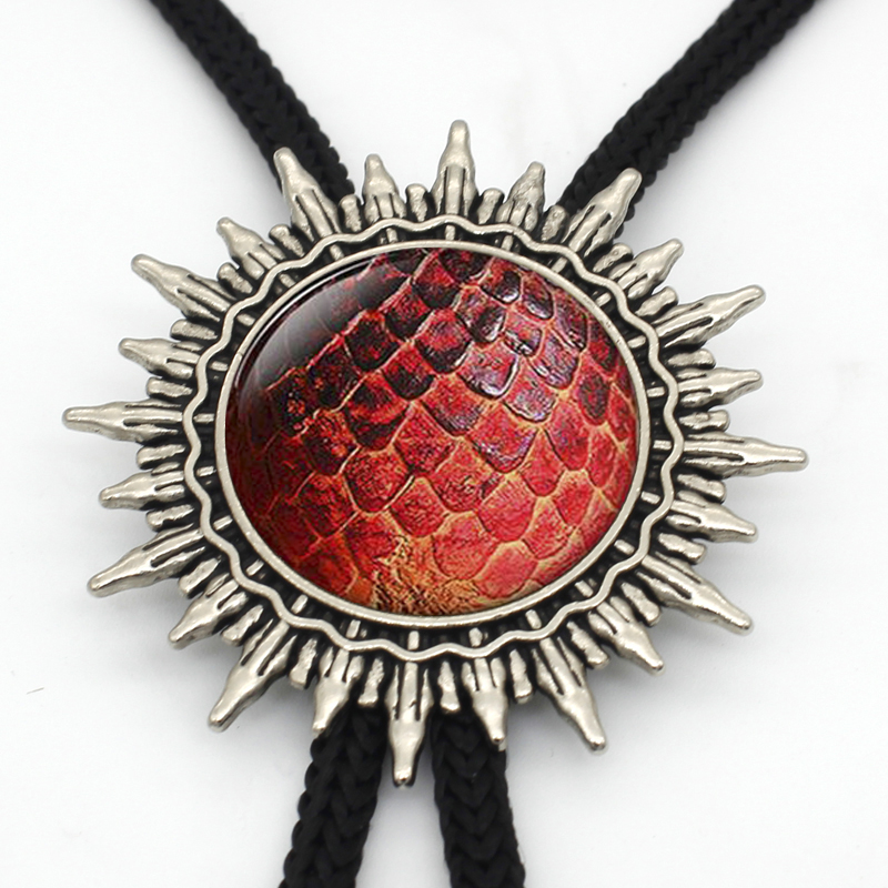 Game of Thrones Inspired Handmade Glass Dome Dragon Egg Bolo Ties