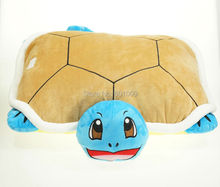 Free Shipping EMS 10/Lot New Arrival Squirtle Plush Pillow Cartoon Anime Plush Dolls Soft For Children Gifts(China)