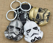 Free Shipping 3 colors Star Wars Keychain StormTrooper Helmet storm trooper Keychain Darth Vader Mask superhero Keyring Doll #1