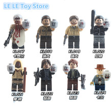 8PCS/lot Rick Grimes Daryl carol rick The Walking Dead Michonne Mini toys Movies Collection Building Block Children Gift Toy(China)