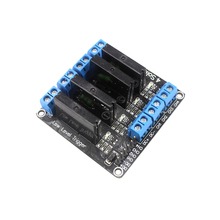 Smart Electronics 4 Channel 5V DC Relay Module Solid State Low Level OMRON SSR AVR DSP for arduino Diy Kit