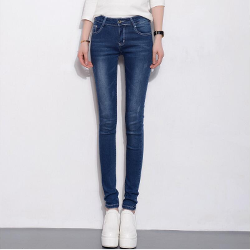 2017 Autumn Woman Fashion Pencil Jeans Sexy Slim Scratches Trousers Plus Size Stretch Casual Blue Denim Pants XXXXXLОдежда и ак�е��уары<br><br><br>Aliexpress