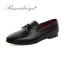 BIMUDUIYU Мужская обувь, роскошные брендовые кожаные повседневные  туфли-оксфорды для вождения, мужские лоферы, Мокасины, итальян. c97b6a3c8c4