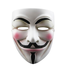 V for Vendetta Mask Anonymous Guy Fawkes Fancy Dress Resin Adult Costume Cosplay Halloween party mask Masquerade High quality(China)