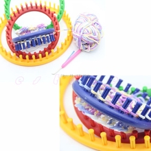 14/19/24Cm Classical Plastic Knitter Knifty Knitting Knit Loom Kit Round Circle Hat #082125#(China)