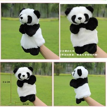 Story game toy cartoon animal China cute panda hand puppets plush sleeping pacify educational stuffed baby gift 1pc