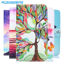 Card Slot Wallet Painted Book Stand Flip Leather Case For Huawei P8 lite 2015 P8 mini Wolf Rose Owl Effiel Tower case Cover