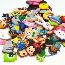 50Pcs/lot random pvc shoe accessories,shoe decoration,shoe charms fit shoes for children croc jibz clogs shoes and wristbands(China)