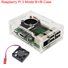 Acrylic-Case Transparent-Box Raspberry Pi Cover-Shell Cooling-Fan 3-Model for