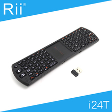[Free DHL] Original Rii i24T 2.4G Wireless Mini Keyboard with TouchPad for Android TV Box/Smart TV High Quality - 20pcs(China)