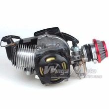 49CC 2-stroke Engine Motor Pocket Mini Bike Scooter ATV 6T T8F Chain 44MM Bore W/ Racing Air Filter