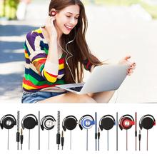 Sport Headset Earphones Clip On Ear Sport Headphones EarHook Earphone For Mp3 Player Computer Mobile Phone Portable Headset Gift